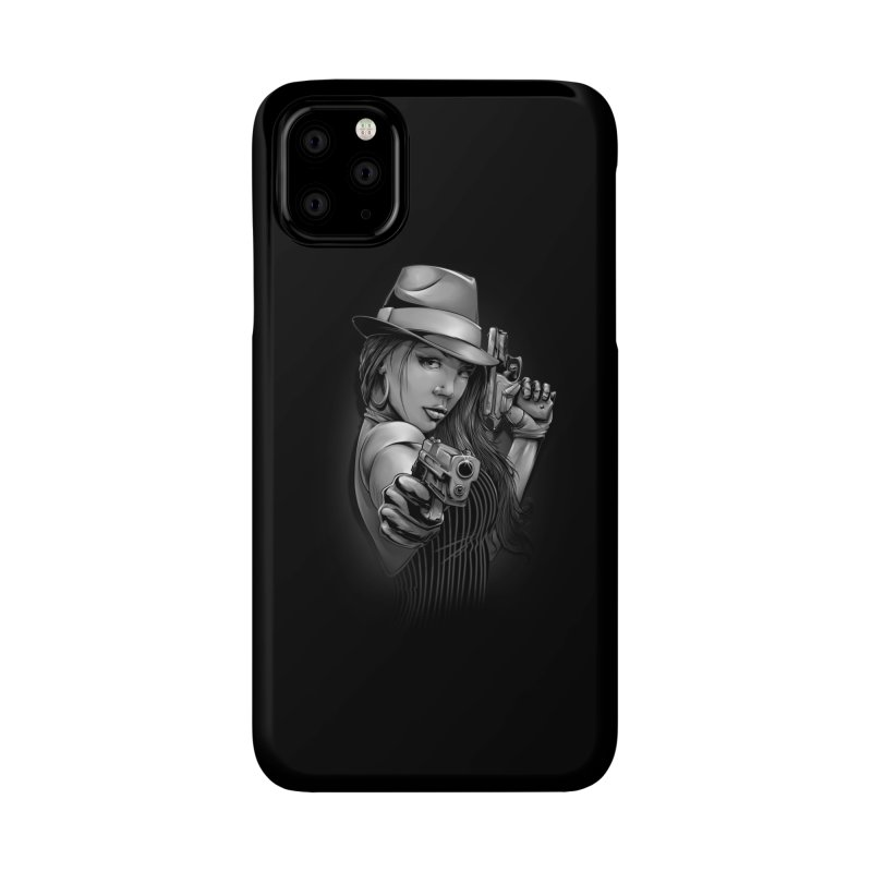 girl with gun Accessories Phone Case by fishark's Artist Shop