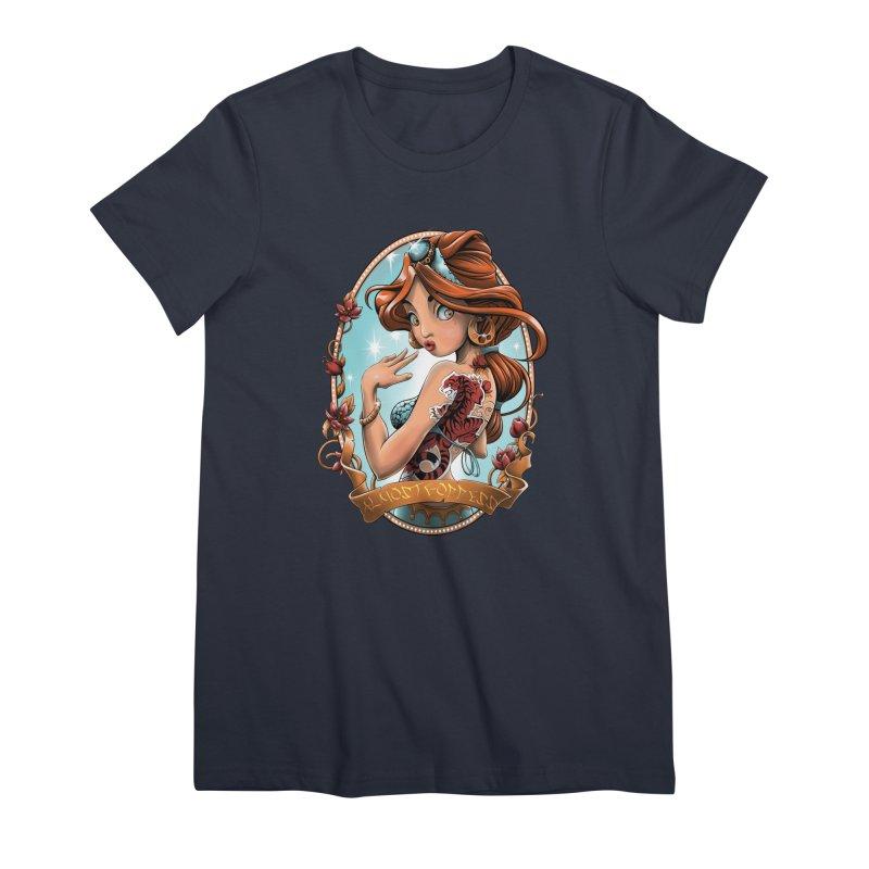 girl Women's Premium T-Shirt by fishark's Artist Shop