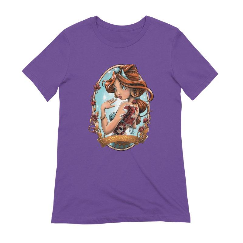 girl Women's Extra Soft T-Shirt by fishark's Artist Shop