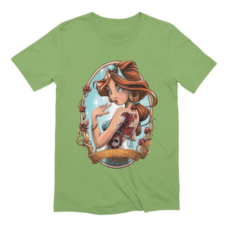girl Men's Extra Soft T-Shirt by fishark's Artist Shop