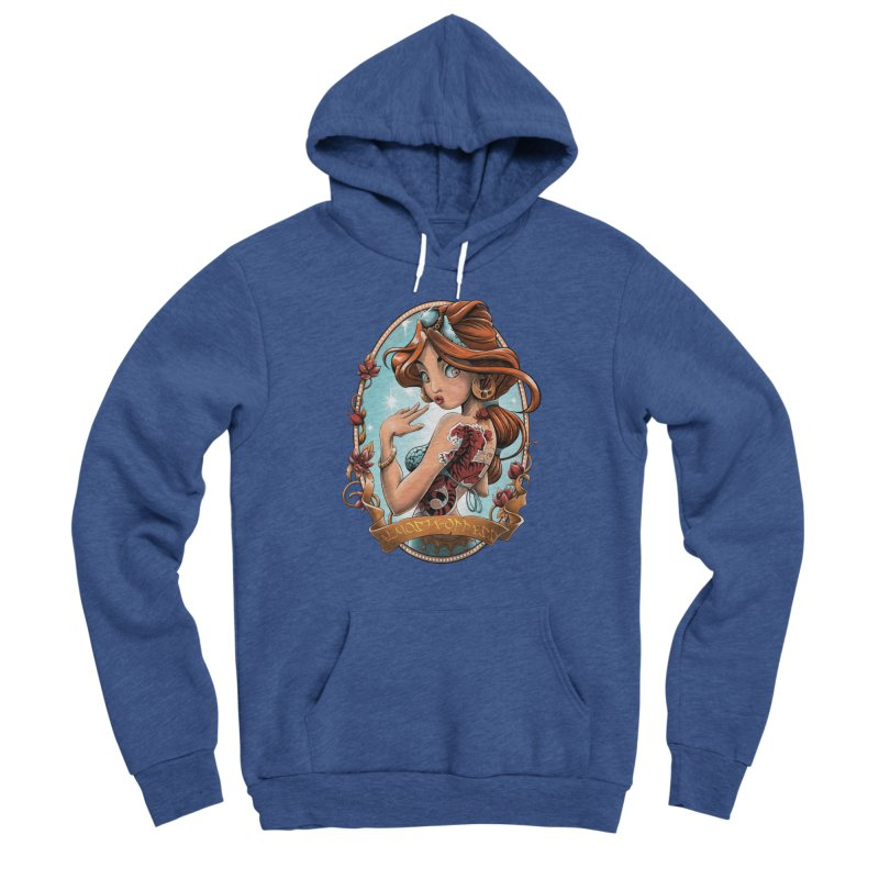 girl Men's Sponge Fleece Pullover Hoody by fishark's Artist Shop