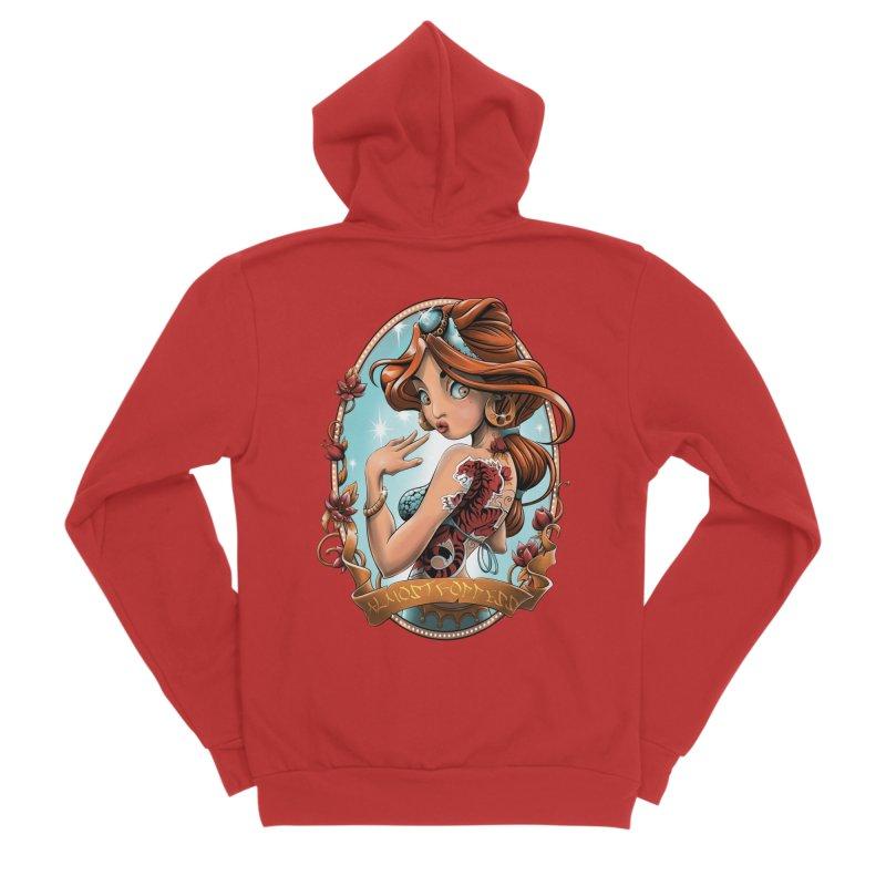 girl Women's Zip-Up Hoody by fishark's Artist Shop