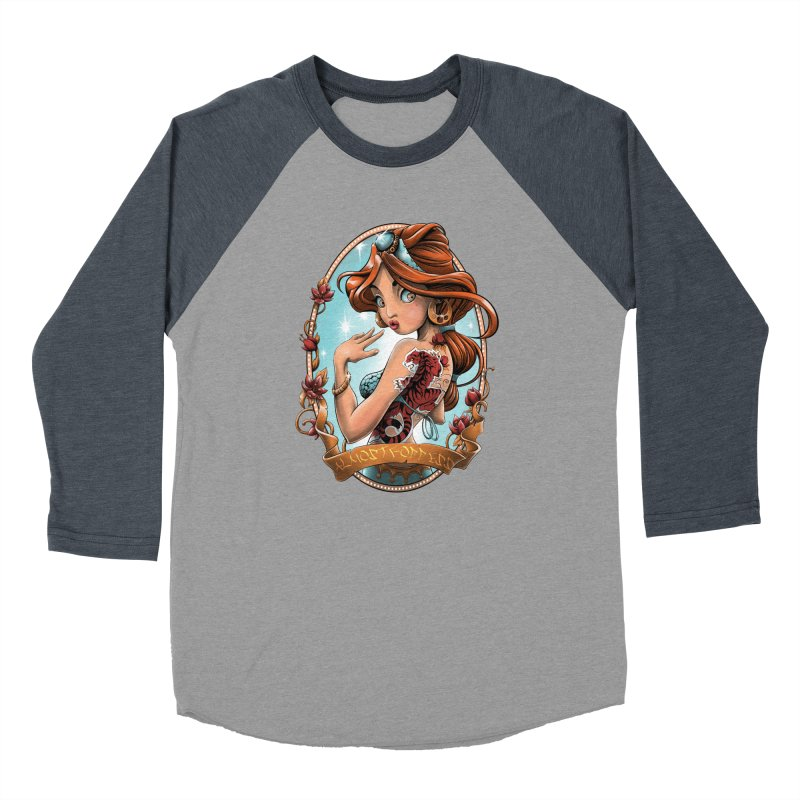 girl Men's Baseball Triblend Longsleeve T-Shirt by fishark's Artist Shop