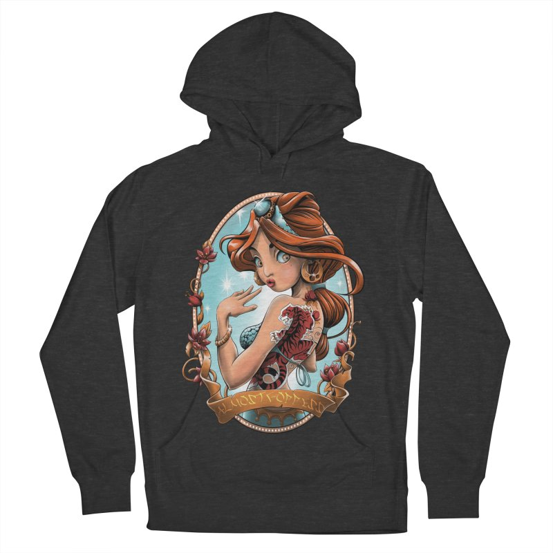 girl Women's French Terry Pullover Hoody by fishark's Artist Shop