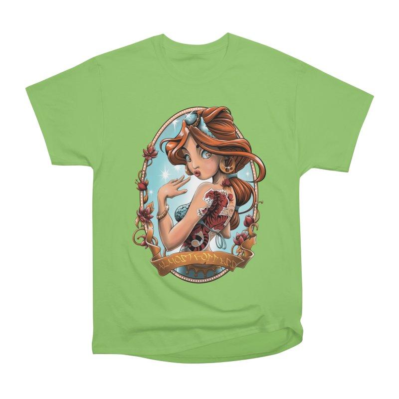 girl Men's Heavyweight T-Shirt by fishark's Artist Shop