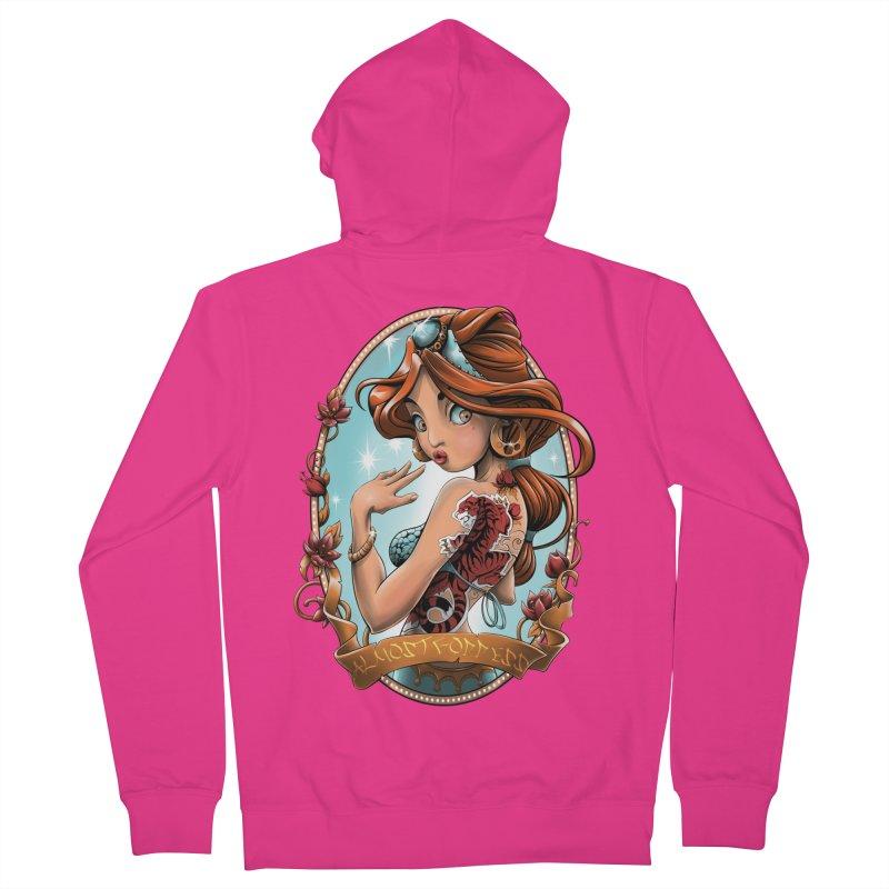 girl Men's French Terry Zip-Up Hoody by fishark's Artist Shop