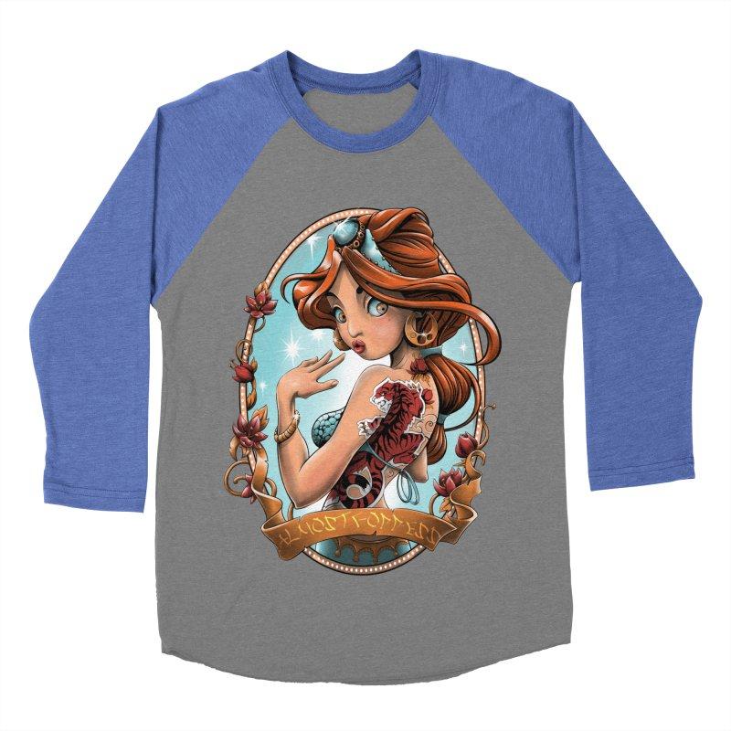 girl Women's Baseball Triblend Longsleeve T-Shirt by fishark's Artist Shop