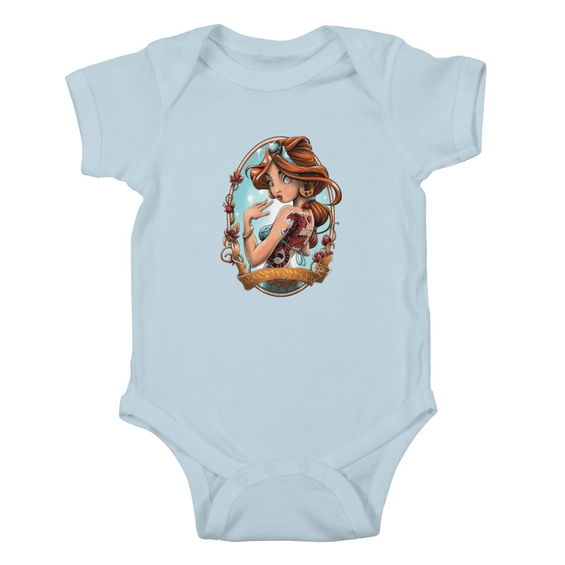 girl Kids Baby Bodysuit by fishark's Artist Shop