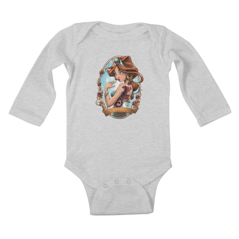 girl Kids Baby Longsleeve Bodysuit by fishark's Artist Shop