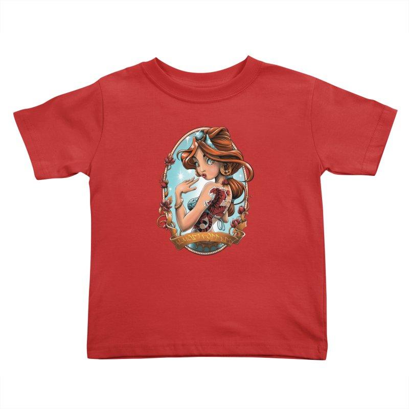 girl Kids Toddler T-Shirt by fishark's Artist Shop