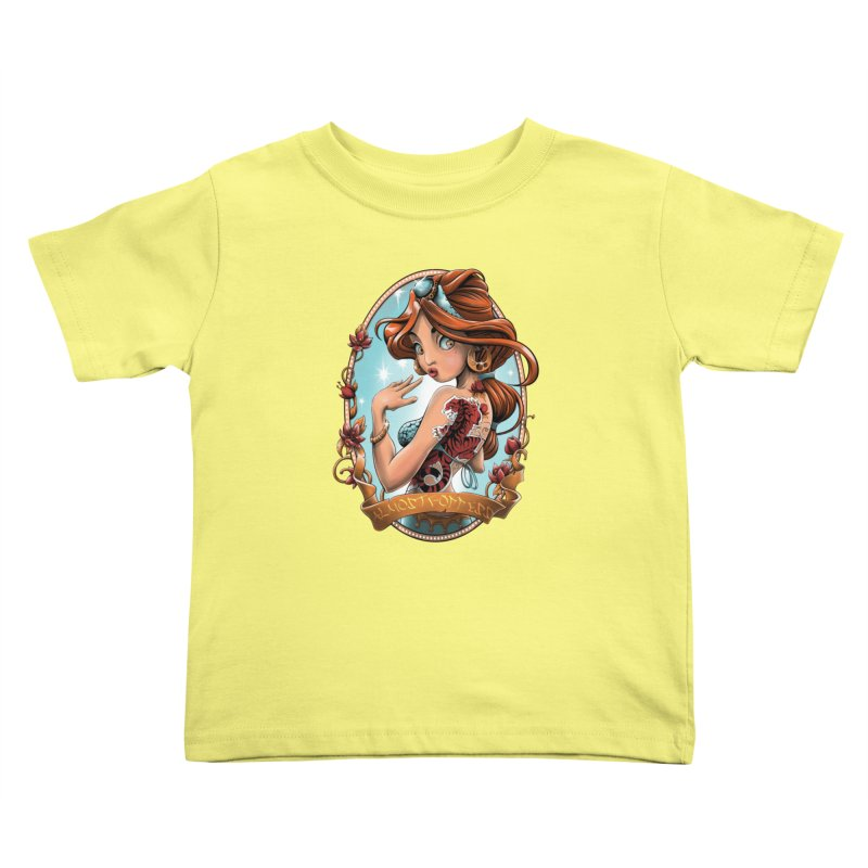 girl Kids Toddler T-Shirt by fishark's Artist Shop
