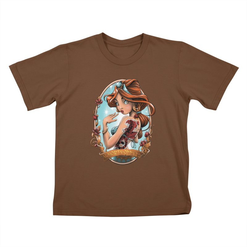 girl Kids T-Shirt by fishark's Artist Shop