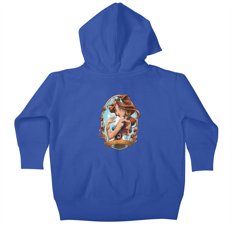 girl Kids Baby Zip-Up Hoody by fishark's Artist Shop
