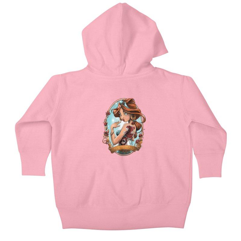 girl Kids Baby Zip-Up Hoody by fishark's Artist Shop