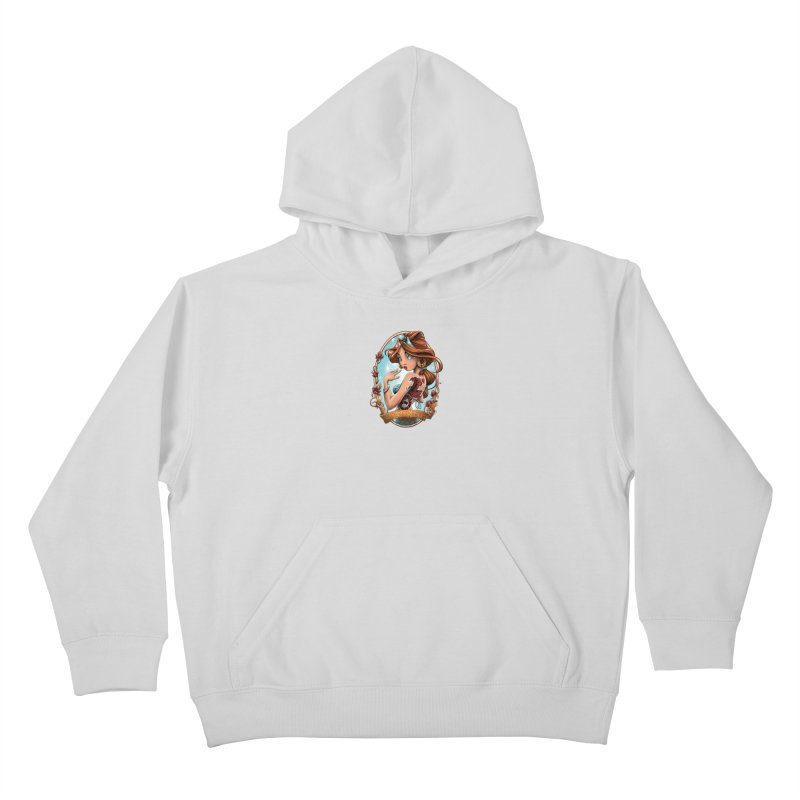 girl Kids Pullover Hoody by fishark's Artist Shop