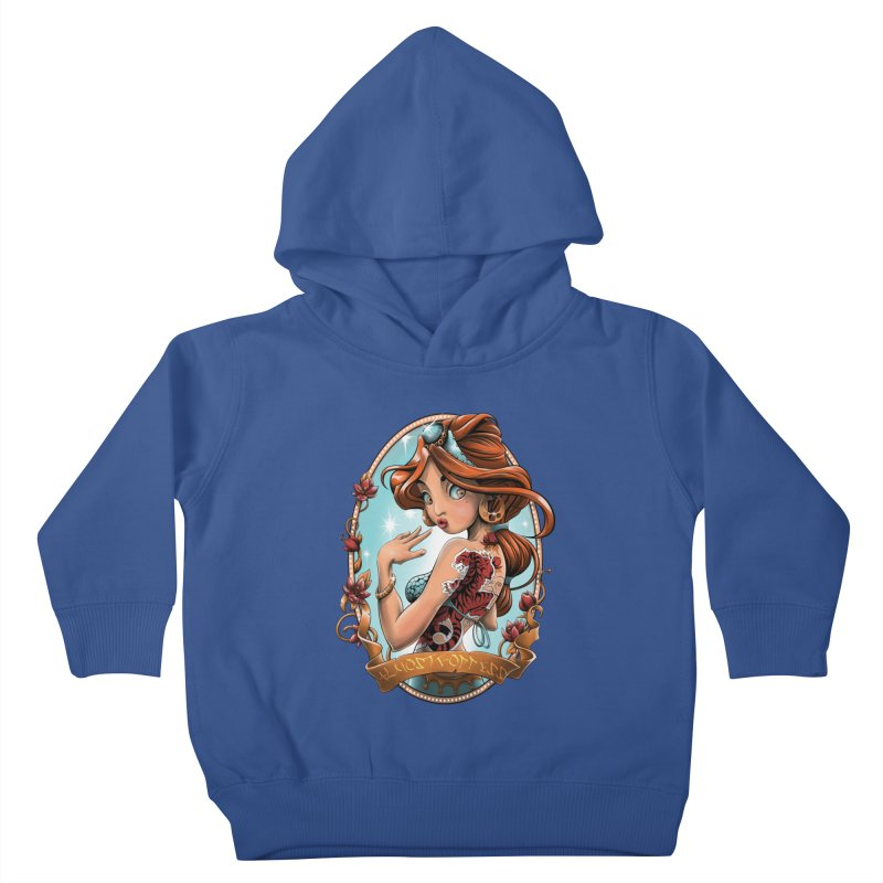 girl Kids Toddler Pullover Hoody by fishark's Artist Shop
