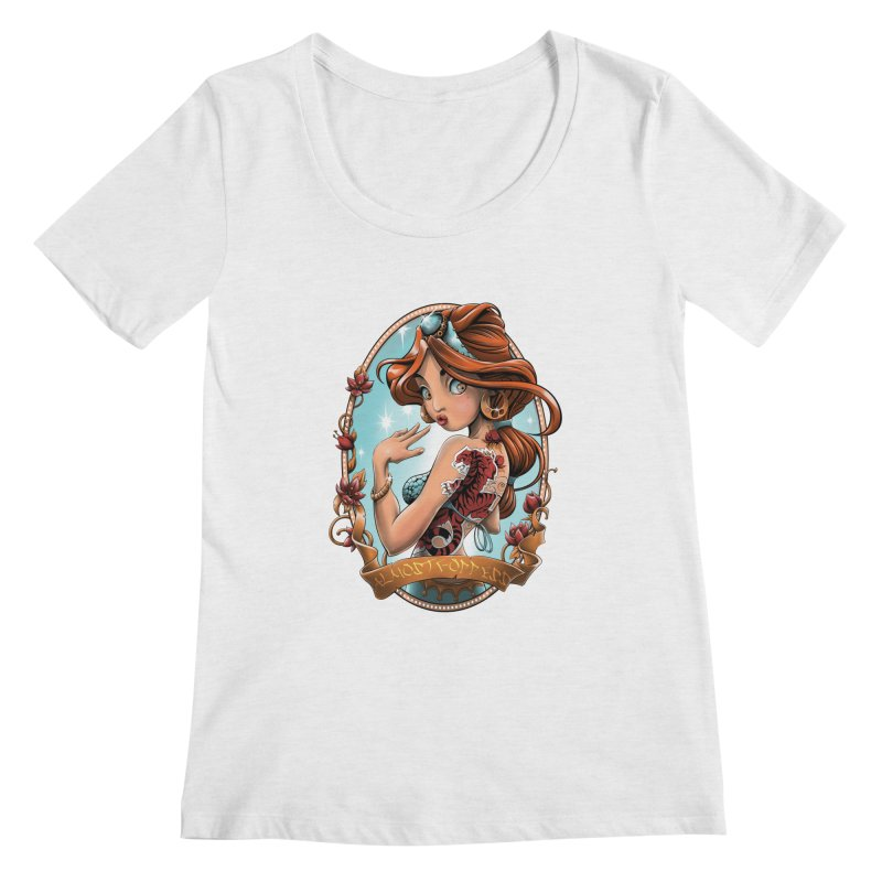 girl Women's Regular Scoop Neck by fishark's Artist Shop