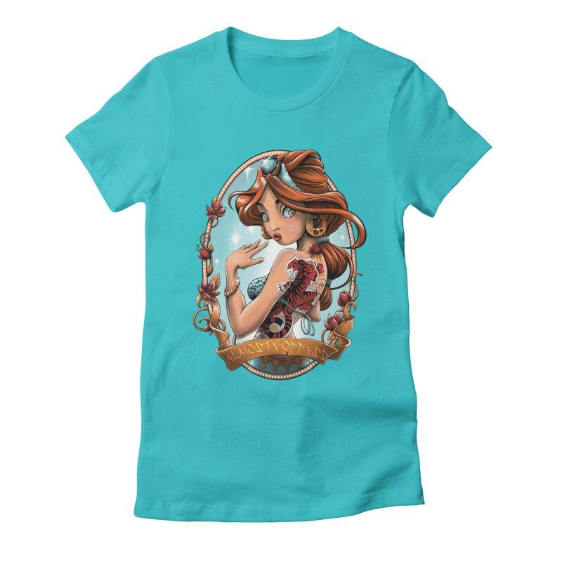 girl Women's Fitted T-Shirt by fishark's Artist Shop
