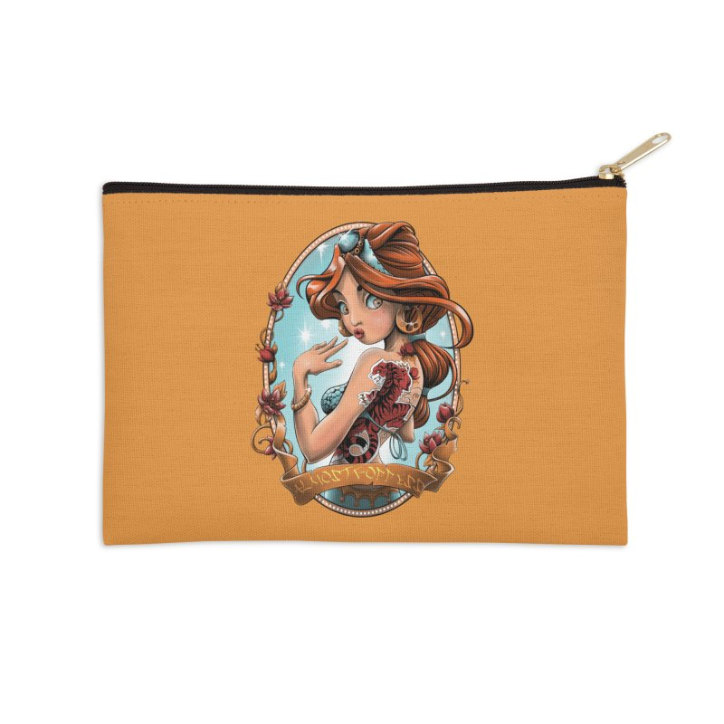 girl Accessories Zip Pouch by fishark's Artist Shop