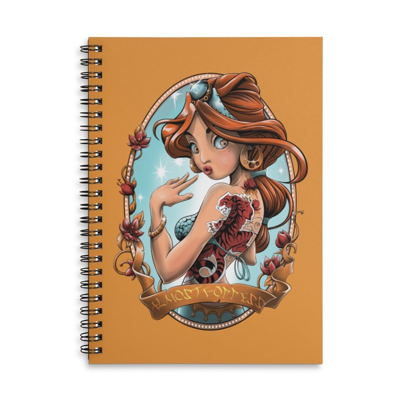 girl Accessories Lined Spiral Notebook by fishark's Artist Shop
