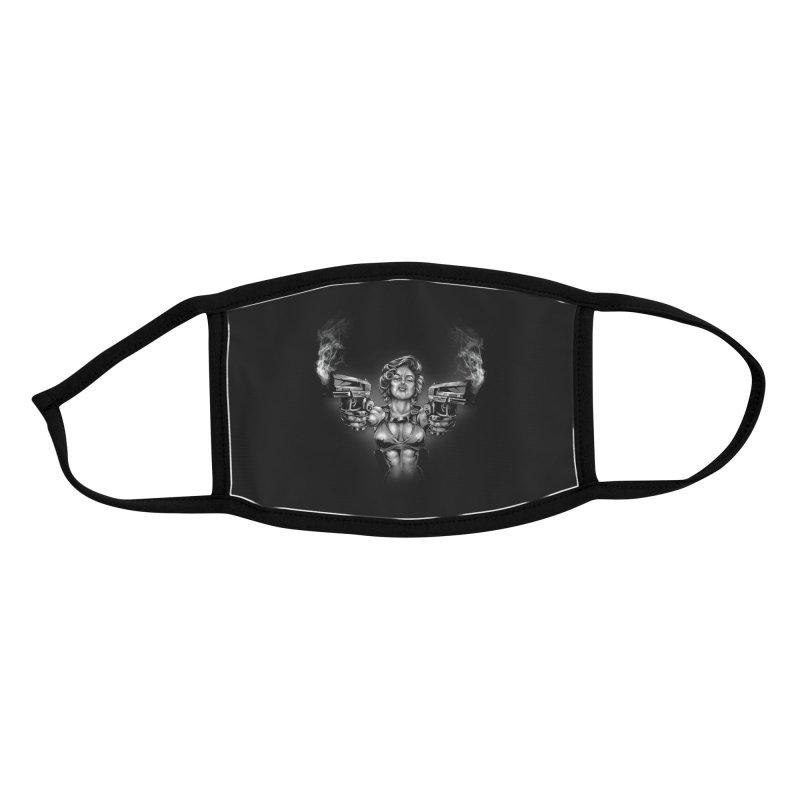 Monroe with guns Accessories Face Mask by fishark's Artist Shop