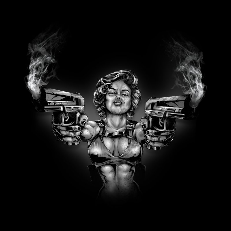 Monroe with guns Kids T-Shirt by fishark's Artist Shop