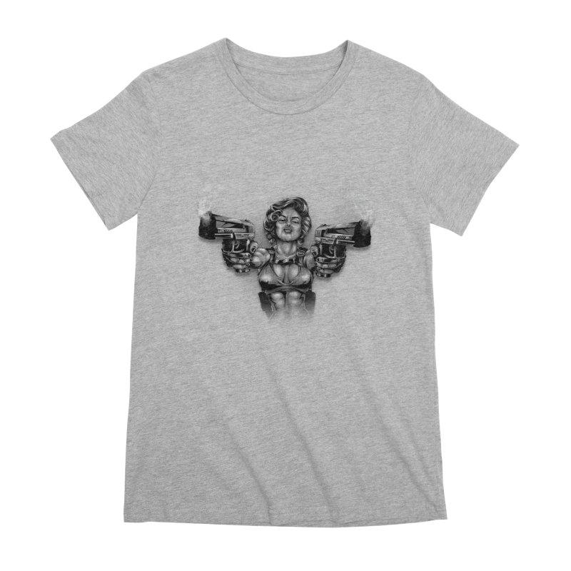 Monroe with guns Women's Premium T-Shirt by fishark's Artist Shop