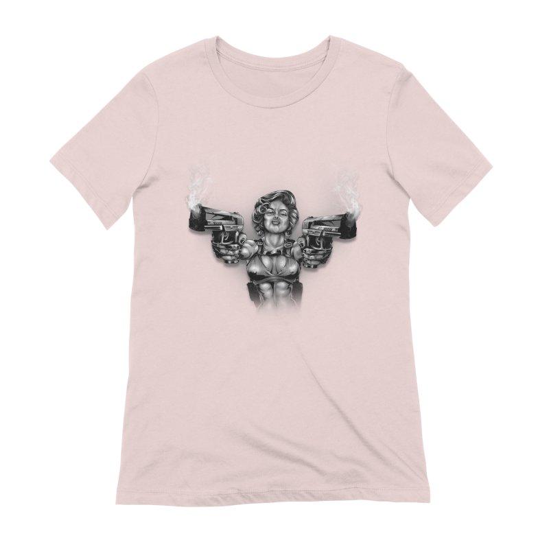 Monroe with guns Women's Extra Soft T-Shirt by fishark's Artist Shop