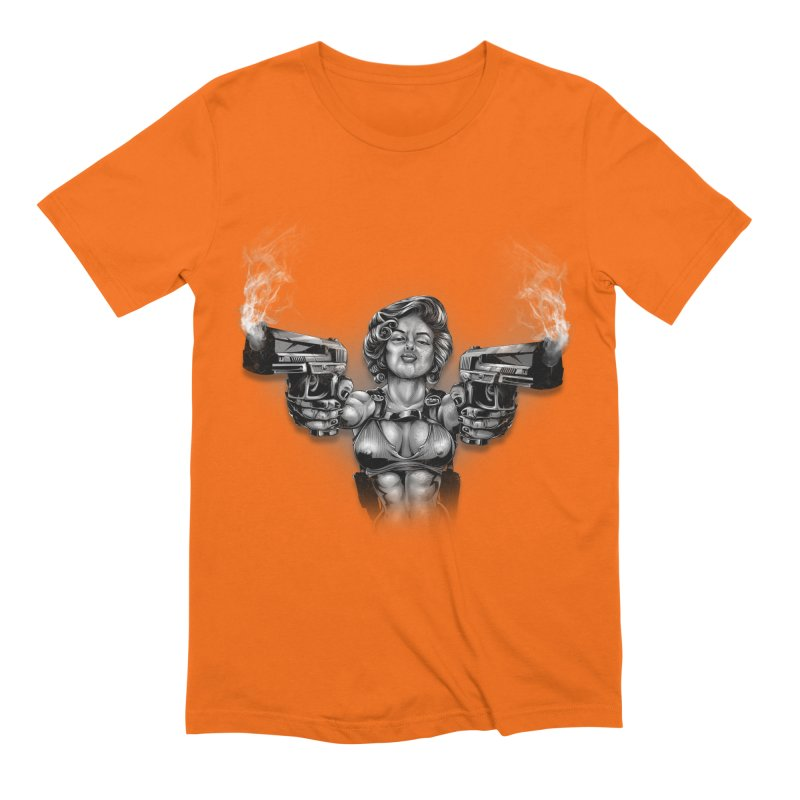 Monroe with guns Men's Extra Soft T-Shirt by fishark's Artist Shop