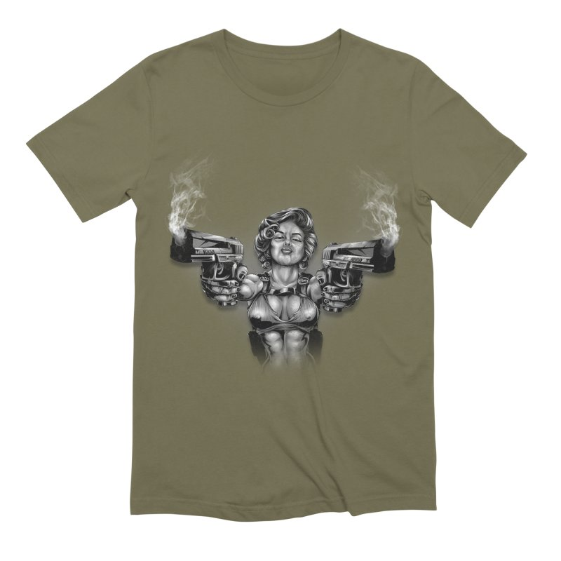 Monroe with guns Men's Extra Soft T-Shirt by fishark's Artist Shop