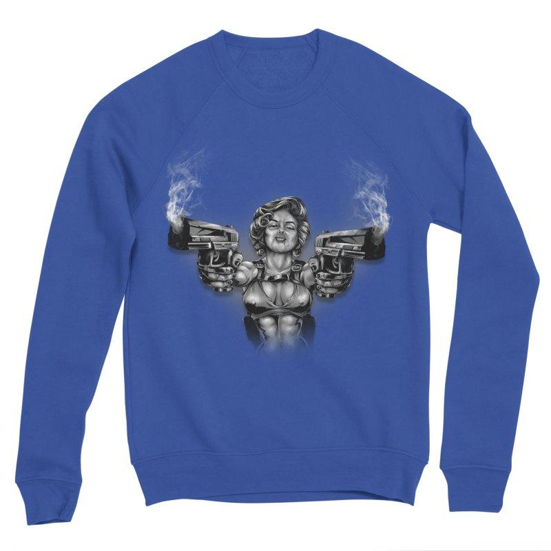Monroe with guns Men's Sweatshirt by fishark's Artist Shop