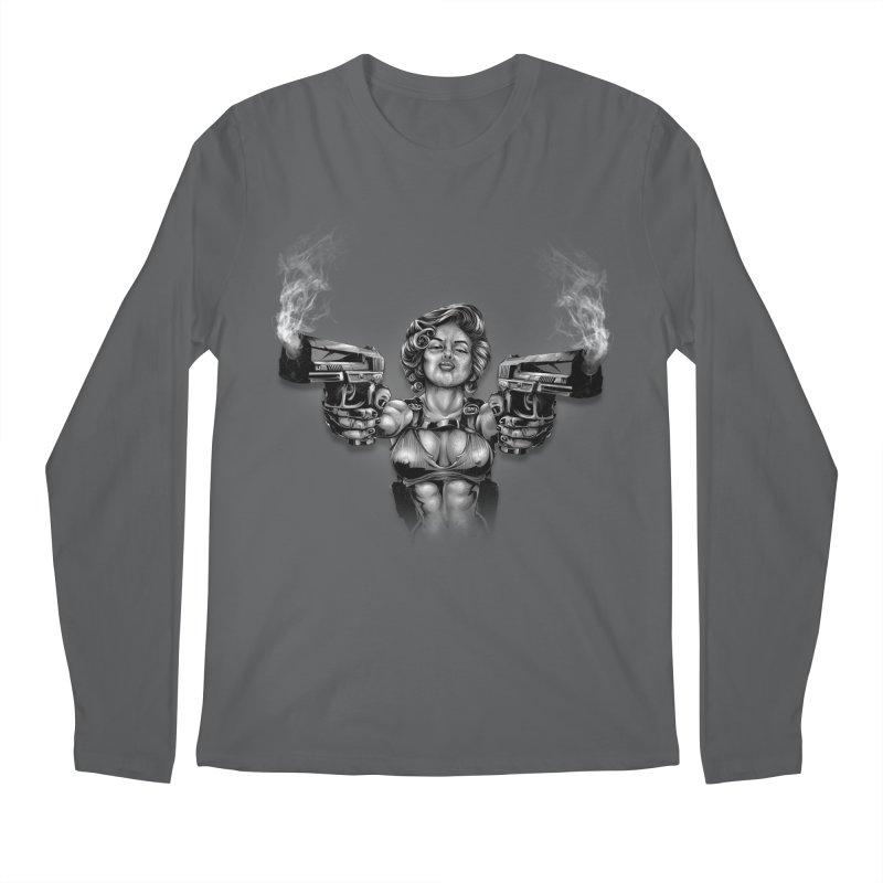 Monroe with guns Men's Longsleeve T-Shirt by fishark's Artist Shop