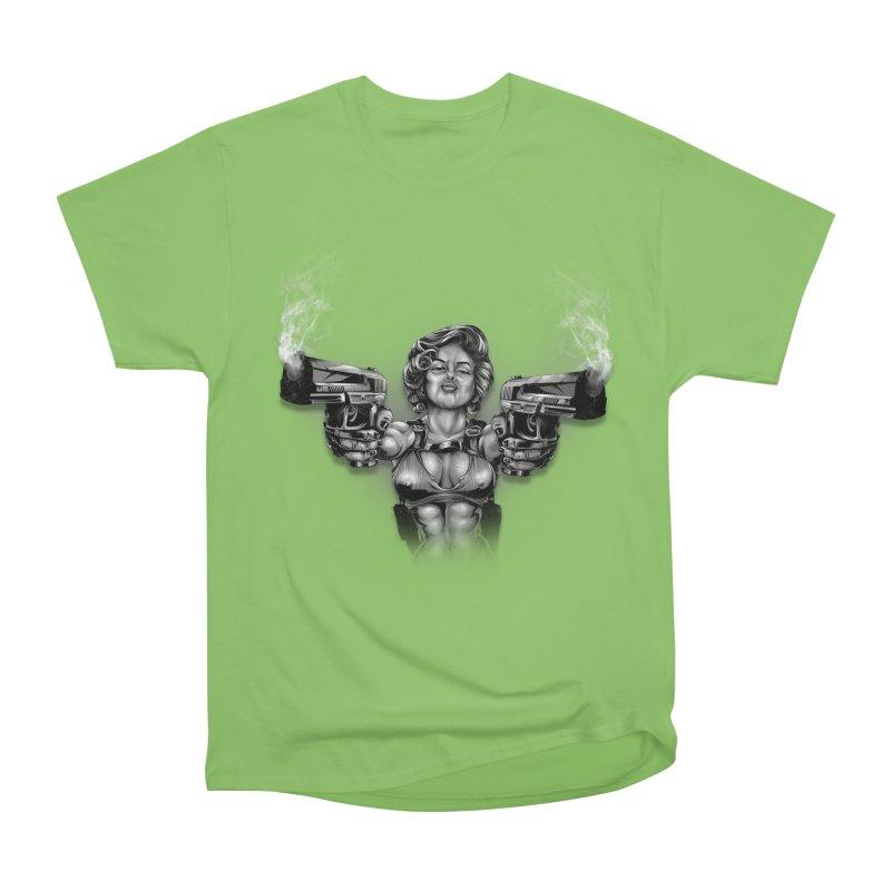 Monroe with guns Men's Heavyweight T-Shirt by fishark's Artist Shop