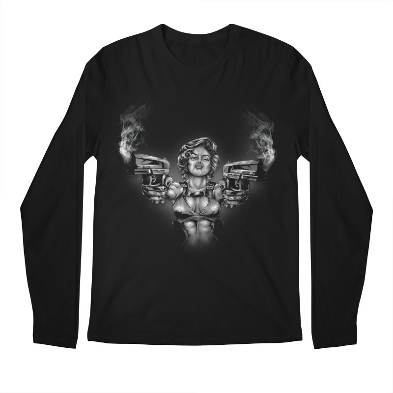 Monroe with guns Men's Regular Longsleeve T-Shirt by fishark's Artist Shop