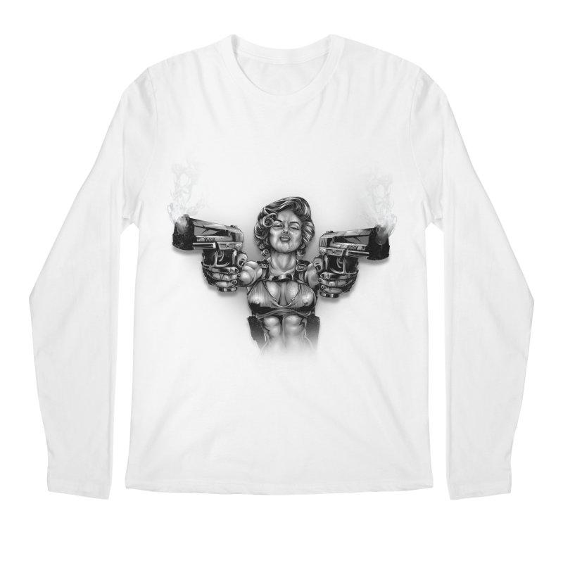 Monroe with guns Men's Regular Longsleeve T-Shirt by fishark's Artist Shop