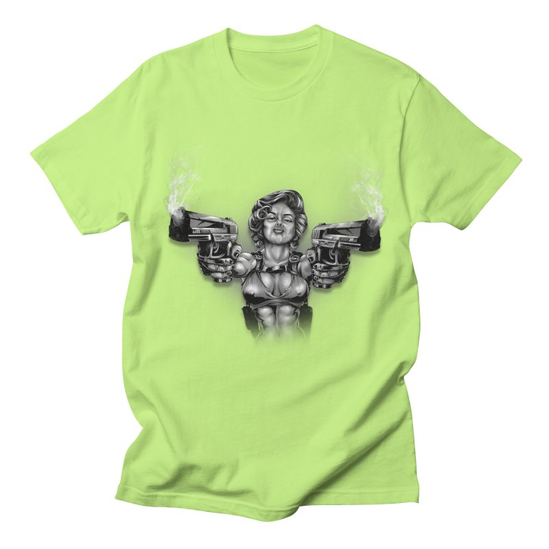 Monroe with guns Women's Regular Unisex T-Shirt by fishark's Artist Shop