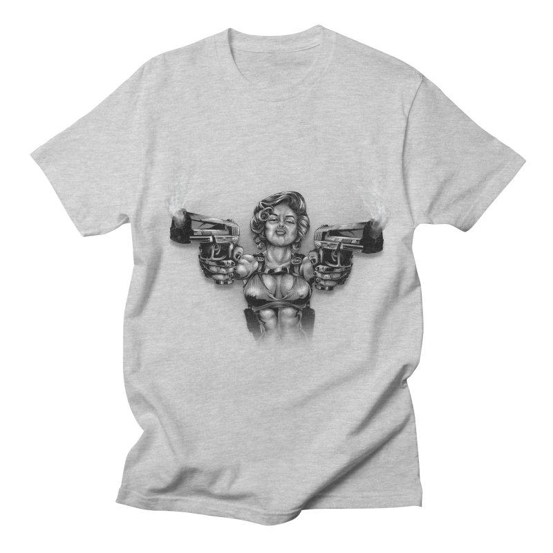 Monroe with guns Women's Regular Unisex T-Shirt by fishark's Artist Shop