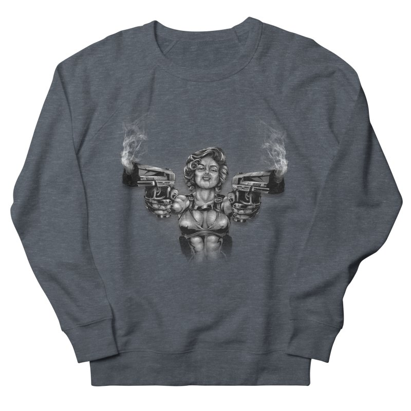 Monroe with guns Women's French Terry Sweatshirt by fishark's Artist Shop