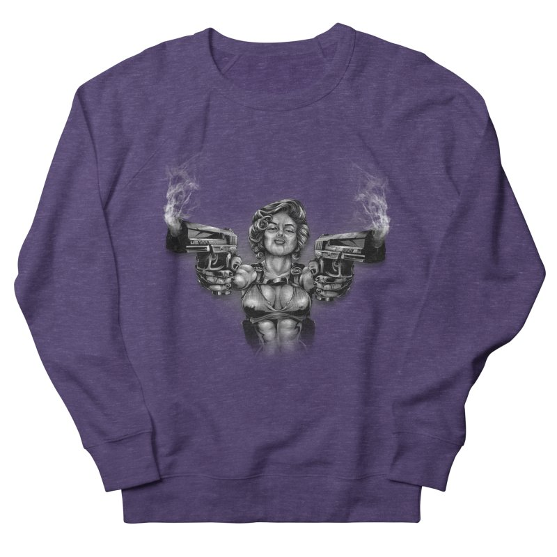 Monroe with guns Men's French Terry Sweatshirt by fishark's Artist Shop