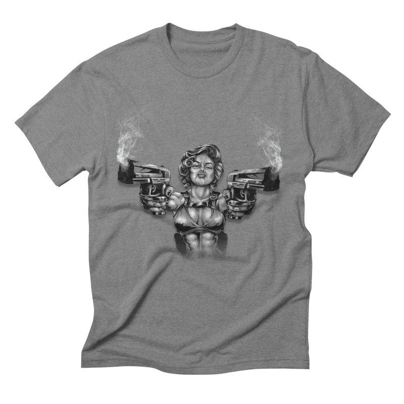 Monroe with guns Men's Triblend T-Shirt by fishark's Artist Shop