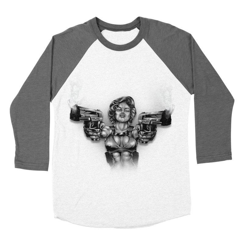Monroe with guns Men's Baseball Triblend Longsleeve T-Shirt by fishark's Artist Shop