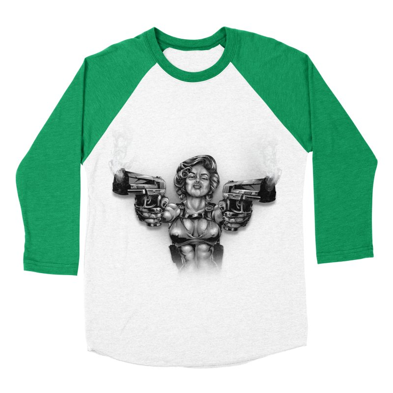 Monroe with guns Men's Baseball Triblend Longsleeve T-Shirt by fishark's Artist Shop