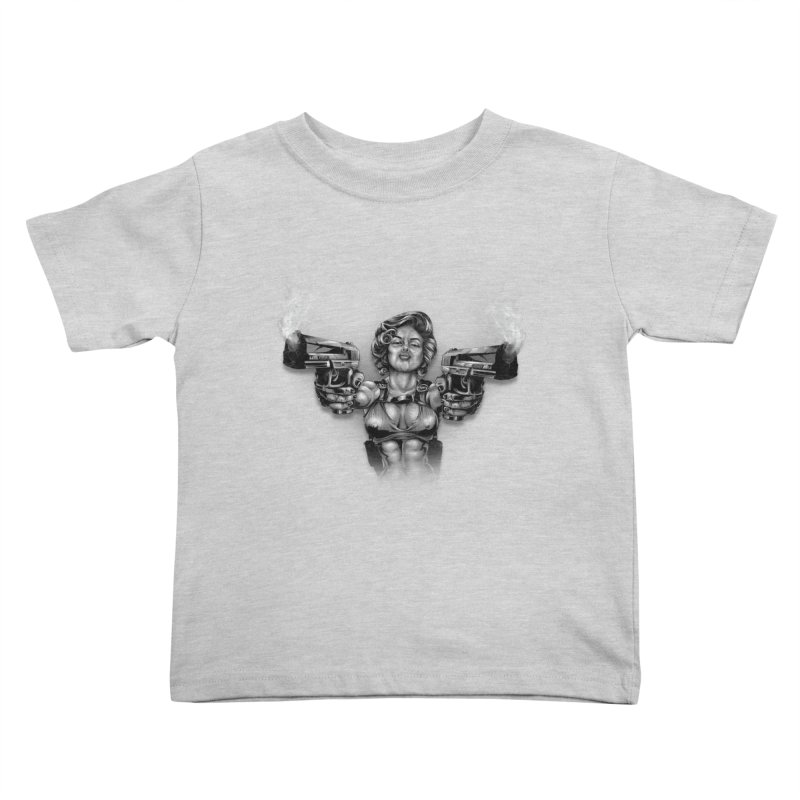 Monroe with guns Kids Toddler T-Shirt by fishark's Artist Shop