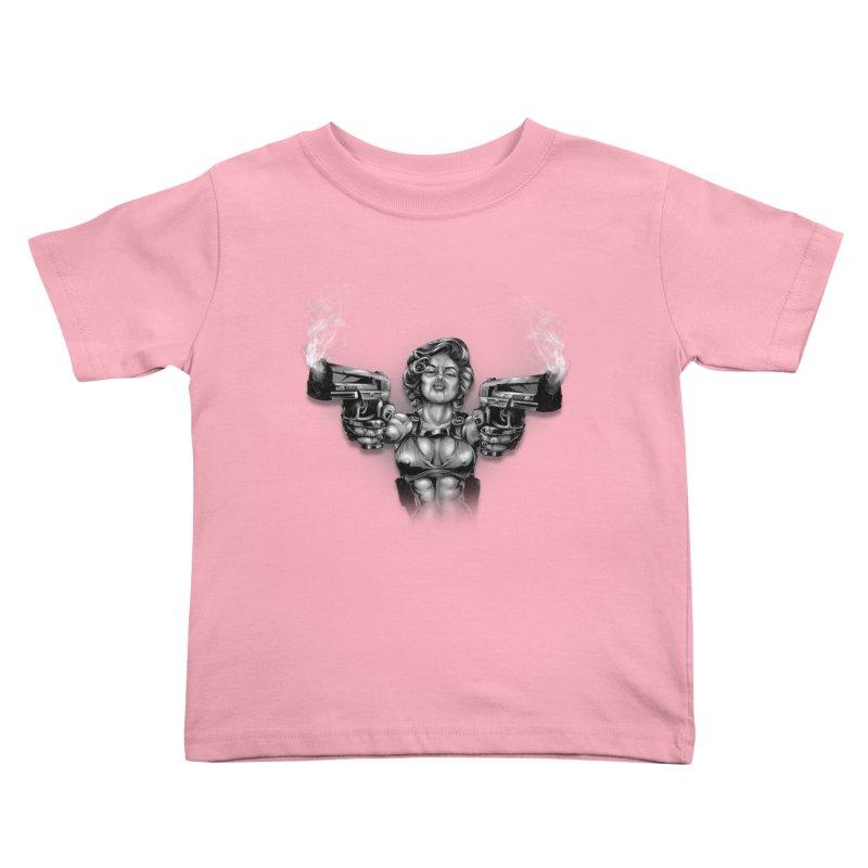 Monroe with guns Kids Toddler T-Shirt by fishark's Artist Shop