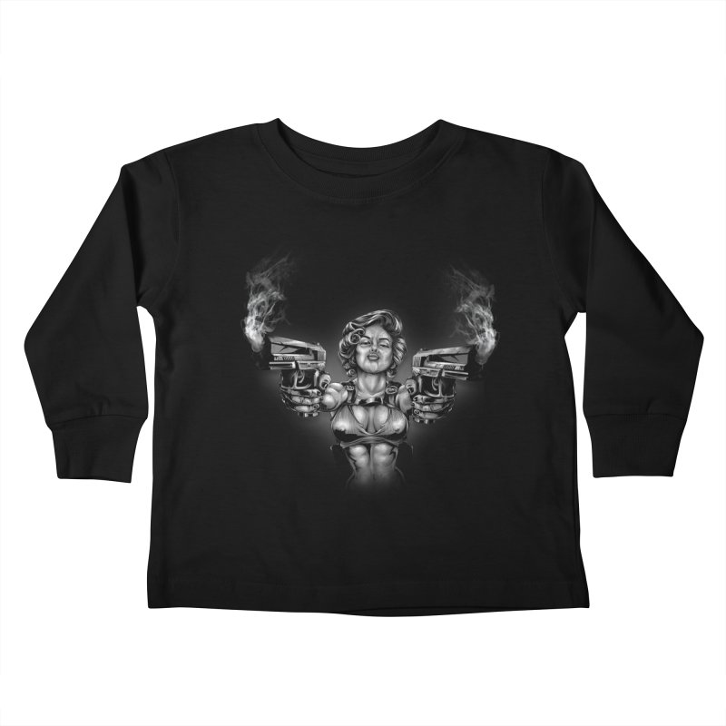 Monroe with guns Kids Toddler Longsleeve T-Shirt by fishark's Artist Shop