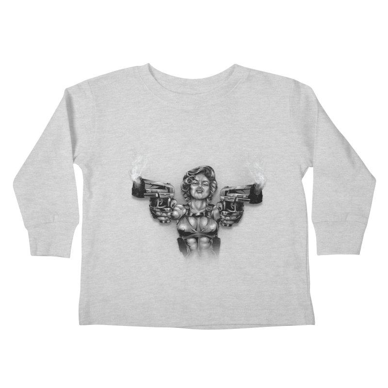 Monroe with guns Kids Toddler Longsleeve T-Shirt by fishark's Artist Shop