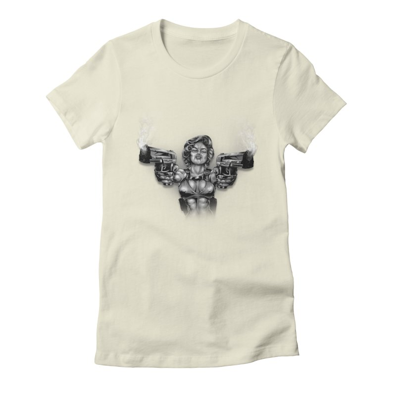Monroe with guns Women's T-Shirt by fishark's Artist Shop