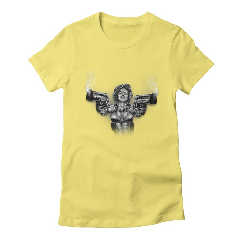 Monroe with guns Women's T-Shirt by fishark's Artist Shop