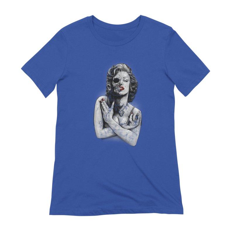 Monroe skull Women's Extra Soft T-Shirt by fishark's Artist Shop