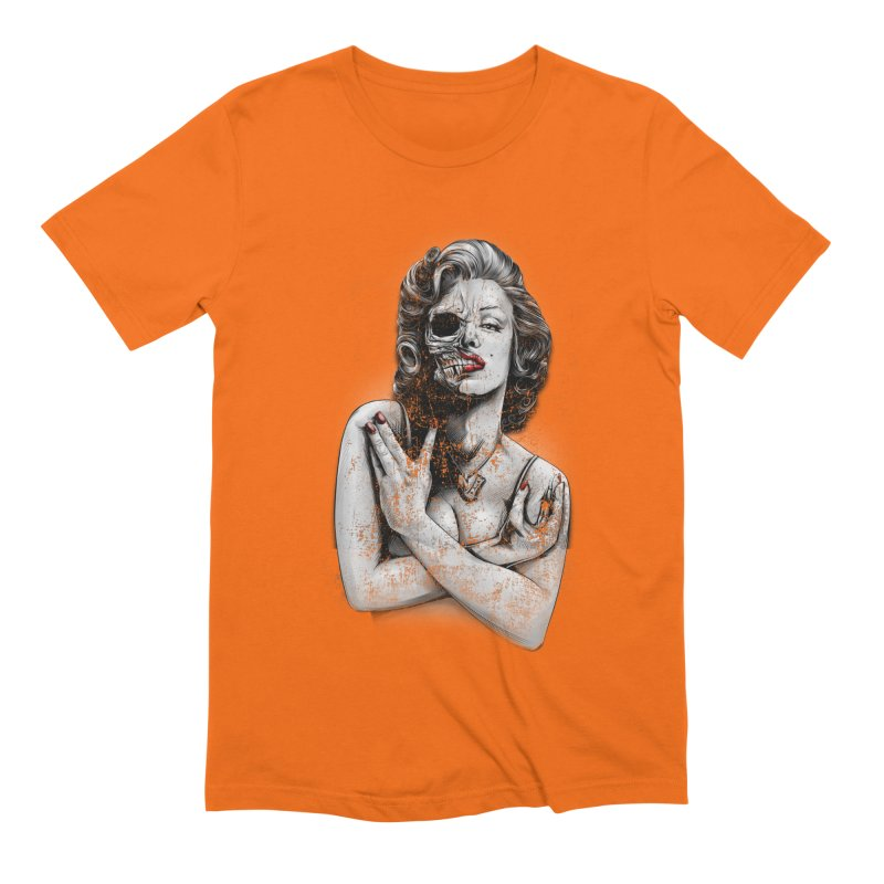 Monroe skull Men's Extra Soft T-Shirt by fishark's Artist Shop